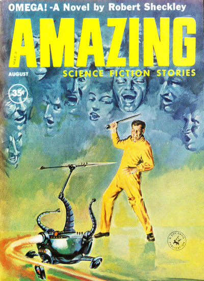 Amazing Science Fiction Stories, August 1960