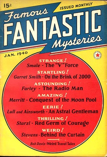 Famous Fantastic Mysteries, January 1940