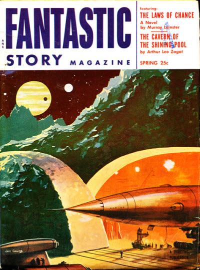 Fantastic Story Magazine 1950 Pulp Comic Books: Publication: Fantastic Story Magazine, Spring 1954