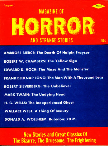 Magazine of Horror, August 1963