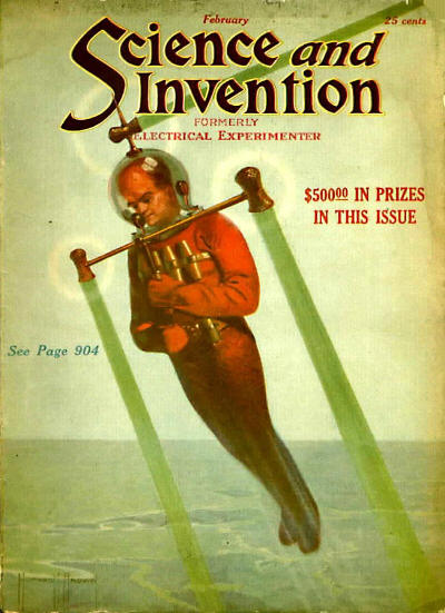 publication science and invention february 1922