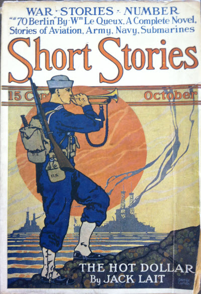 Short Stories, October 1917 cover - The first appearance of the red sun that i could find