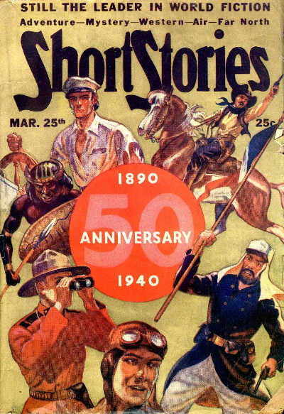 Short Stories March 25, 1940 issue cover by Edward M. Stevenson, editor Dorothy S. McIlwraith
