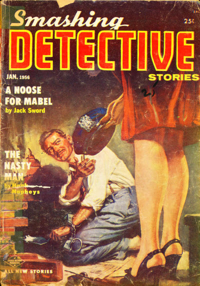 Smashing Detective Stories, January 1956