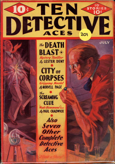 Ten Detective Aces, July 1933