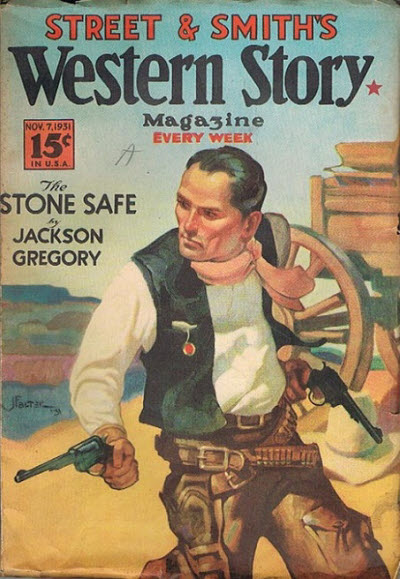 Western Story Magazine, November 7, 1931 cover by J.P. Falter