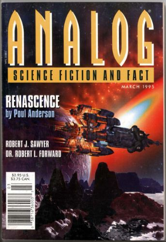Image - Renascence by Poul Anderson, Analog, March 1995, cover illustration by George Krauter