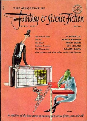 Fantasy & Science Fiction, April 1952, cover by George Salter