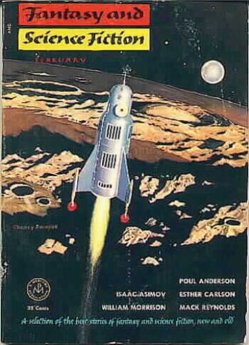 Fantasy & Science Fiction, February 1954, cover by Chesley Bonestell