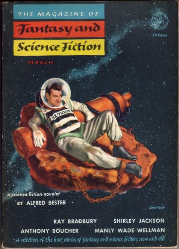 Fantasy & Science Fiction, March 1954, cover by Kirberger