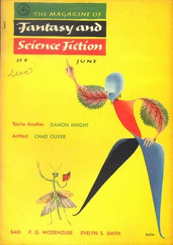 Fantasy & Science Fiction, June 1955, cover by George Salter