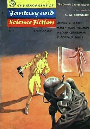 Fantasy & Science Fiction, Jan 1956, cover by Solovioff