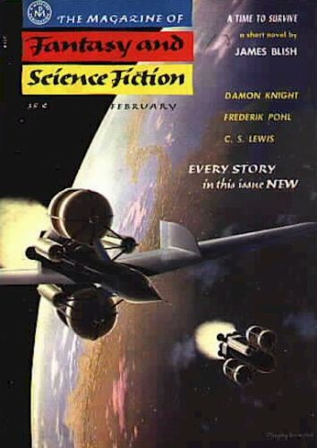 Fantasy & Science Fiction, Feb 1956, cover by Chesley Bonestell