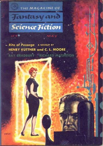 Fantasy & Science Fiction, May 1956, cover by Emsh