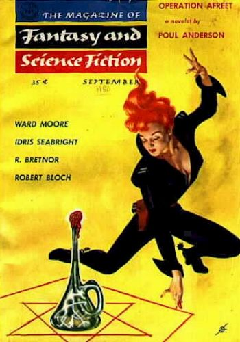 Fantasy & Science Fiction, September 1956 art by Kelly Freas
