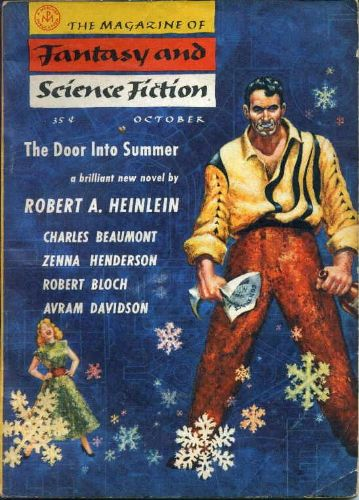 Fantasy & Science Fiction, October 1956 art by Kelly Freas