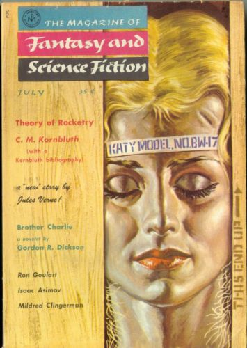 Fantasy & Science Fiction, July 1958 art by Barry Waldman