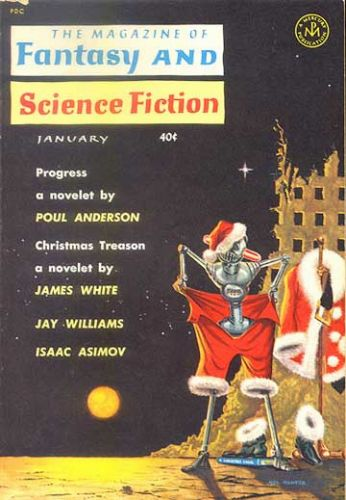 Fantasy & Science Fiction, Jan 1962, cover by Mel Hunter