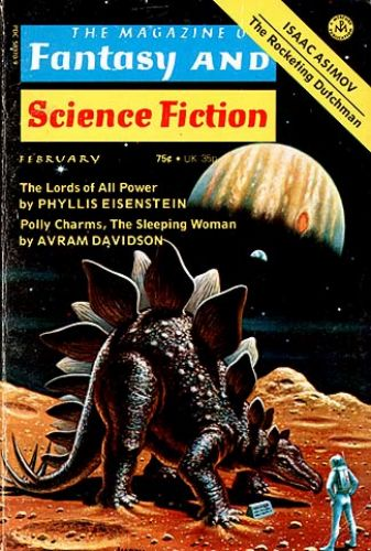 Fantasy & Science Fiction, Feb 1975, cover by David Hardy