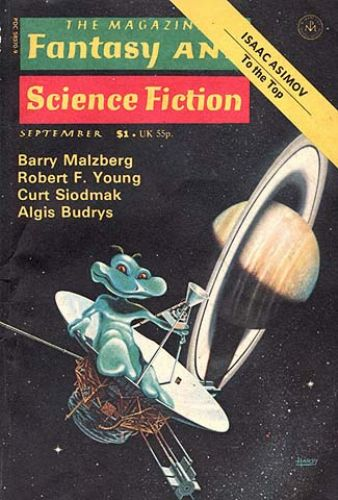 Fantasy & Science Fiction, September 1976, cover by David Hardy