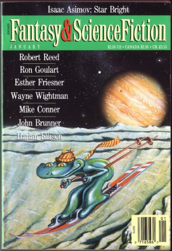 Fantasy & Science Fiction, January 1992, cover by David Hardy
